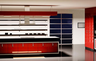 Kitchen Cabinetry - Solid Color Laminates
