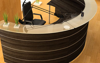 Reception Desk - Wood Grain Laminates